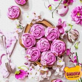 Купити картину за номерами RainbowArt Квітковий сніданок, 40*50 см, GX37316