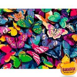 Купити картину за номерами STRATEG Метелики, 40*50 см, VA-0125