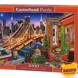 """Кастор пазлы 1000 """"Огни Бруклинского моста"""" 68*47 см, С-104598"""