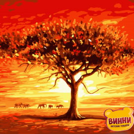 Купити картину за номерами Art Craft Золоте сонце Африки, 40*50 см 10507