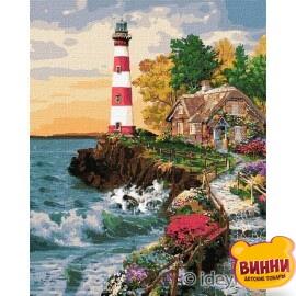 Купити картину за номерами Ідейка, Будинок біля маяка, 40*50 см KHO2835