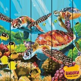 Купити картину за номерами на дереві RainbowArt Підводний світ 40*50 см, GXT29099