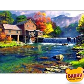 Купити картину за номерами на дереві Josef Otten Млин на воді, 40*50 см, 3231RAD