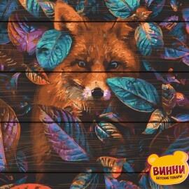 Купити картину за номерами на дереві RainbowArt Лисиця 40*50 см, GXT34615
