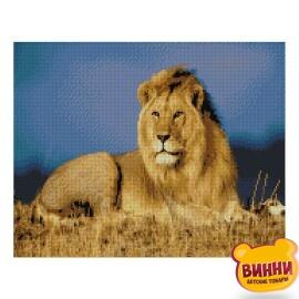 Купити алмазну мозаїку STRATEG Цар звірів, 40*50 см, FA10001