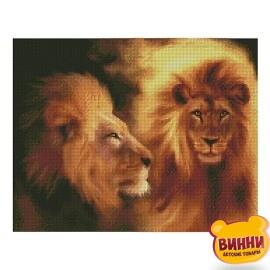 Купити алмазну мозаїку STRATEG Величний лев, 40*50 см, FA11358