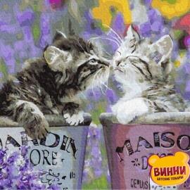 Купити картину за номерами RainbowArt Кошенята, 40*50 см, GX29359