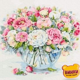 Купити картину за номерами RainbowArt Ніжний букет, 40*50 см, GX33800