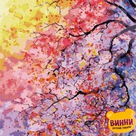 Купити картину за номерами RainbowArt Квітуче дерево, 40*50 см, GX7940