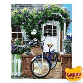 Купити картину за номерами STRATEG Велосипед на ганку, 40*50 см, VA-0802