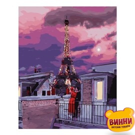 Купити картину за номерами STRATEG Париж на заході сонця, 40*50 см, VA-2526
