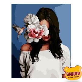 Купити картину за номерами STRATEG Портрет з колібрі, 40*50 см, VA-2591