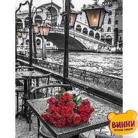 Купити алмазну мозаїку Троянди під дощем 30*40 см, без підрамника, в коробці, C528