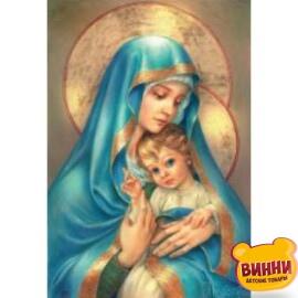 Купити алмазну мозаїку Мадонна з немовлям 30*40 см, без підрамника, в коробці, ZX8435