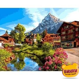 Купить картину по номерам Babylon Альпийский город, 40*50 см VP1147