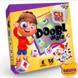 "Настільна розважальна гра ""doobl image cubes"" рос"