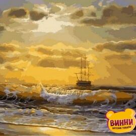 Купить картину по номерам Mariposa Корабль на рассвете, 40*50 см Q2136