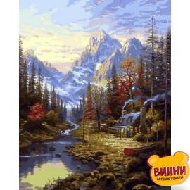 Купить картину по номерам Mariposa Изба в лесу , 40*50 см Q2249