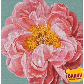 Купити картину за номерами Ідейка Pink kiss©Ira Volkova, 40*40 см KHO2952