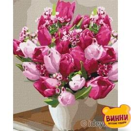 Купити картину за номерами Ідейка Яскраві тюльпани, 40*50 см KHO3006