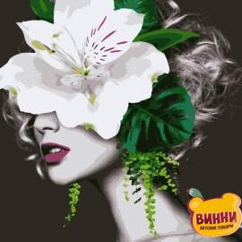Купити картину за номерами Artissimo Ніжна квітка 40*50 см, 50*60 см PN7610