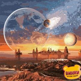Купити картину за номерами Ідейка, Космічна пустеля, з фарбами металік, 50*50 см KHO9541