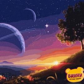 Купити картину за номерами Ідейка Шлях до космосу, 50*50 см KHO9545 в коробці