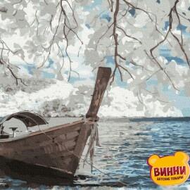 Купити картину за номерами RainbowArt Човен на березі, 40*50 см, GX36526