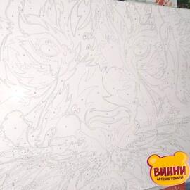 Купить картину по номерам Babylon Радужный тигр, 40*50 см VP987