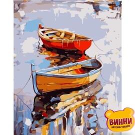 Купити картину за номерами STRATEG Човни 40*50 см, VA-0995