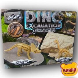 """Набор для творчества, раскопки скелетов динозавров """"DINO Excavation, в кор. 19*24*5 см, арт DEX-01-04,05,06"""