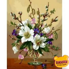 Купить картину по номерам Babylon Белоснежные цветы 40*50 см VP1059