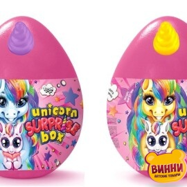 "Набор для творчества, яйцо, тесто для лепки, аксессуары и сюрпризы ""Unicorn WOW Box"" укр/рос UWB-01-01"