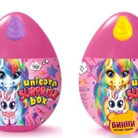 """Набор для творчества, яйцо, тесто для лепки, аксессуары и сюрпризы """"Unicorn Surprise Box"""""""