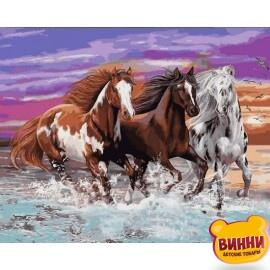 Купить картину по номерам Mariposa Табун диких лошадей 40*50 см Q2252
