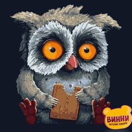 Купити картину за номерами Artissimo Смачне печиво, совеня, сова 40*50 см, 50*60 см PN5445