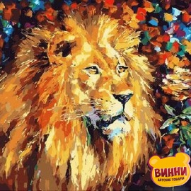 Купить картину по номерам Mariposa Великолепный лев, 40*50 см Q051