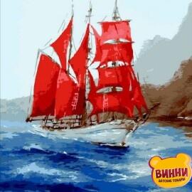 Купить картину по номерам Mariposa Под алыми парусами, 40*50 см Q1745