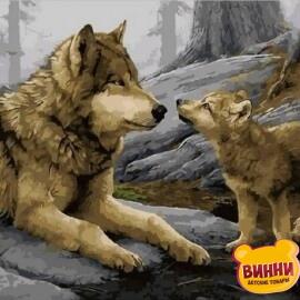 Купить картину по номерам Mariposa Волки, 40*50 см Q1925