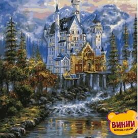 Купить картину по номерам Mariposa Замок Нойшванштайн худ. Роберт Файнэл, 40*50 см Q2100