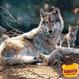 Купить картину по номерам Mariposa Волчица, 40*50 см Q2120