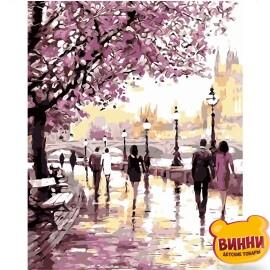 Купити картину за номерами STRATEG Набережна у фіолетових тонах, 40*50 см, VA-2110