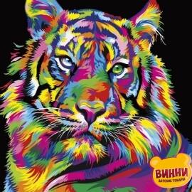 Купить картину по номерам Babylon Радужный тигр, 40*50 см VP1344