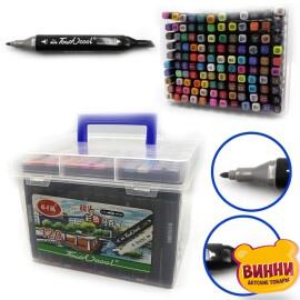 """Набор скетч маркеров """"TouchCool"""" скошенный+тонкий, 120 цветов, арт. 0229-120"""