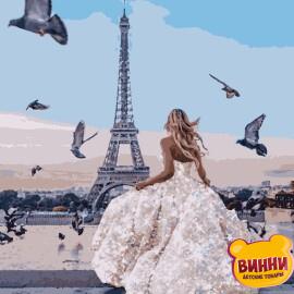 Купити картину за номерами Artissimo Париж. З глітером 40*50 см, 50*60 см PN3705