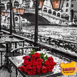 Купити картину за номерами Artissimo Троянди під дощем, міст Ріальто, 40*50 см, 50*60 см PN6305