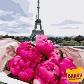 Купити картину за номерами Artissimo Півонії в Парижі, 40*50 см, 50*60 см, PN6780