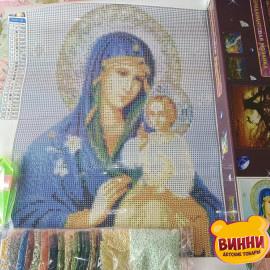Купити алмазну мозаїку Ікона Божої Матері Нев'янучий цвіт 30*40 см, без підрамника, в коробці, ZX8269