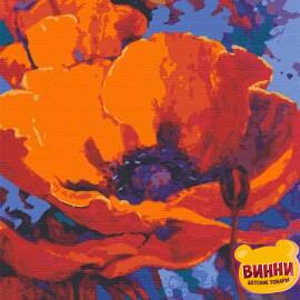 Купити картину за номерами Riviera Blanca Багряний мак, 40*50 см, RB-0020