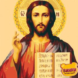Купити картину за номерами ікону Riviera Blancaю, Ікона Ісус Вседержитель, 40*50 см, RBI-006